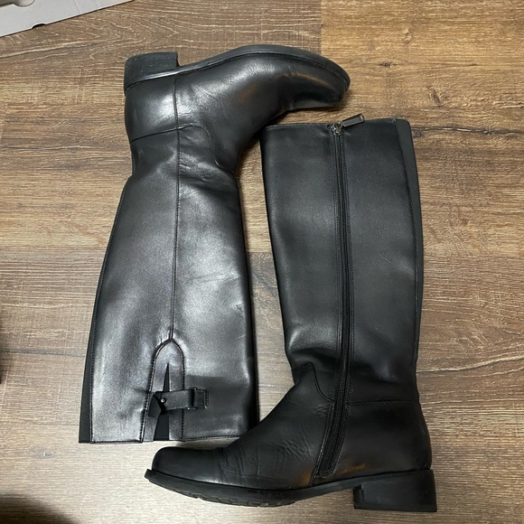 Black Leather Waterproof Boots Size